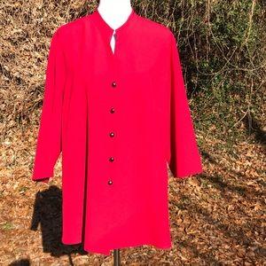 T Dress Coat Button Up Dinner Jacket Stretch 1X